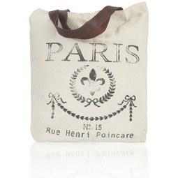 Handtasche Paris - Beige/Schwarz, Textil (40/43cm) - MÖMAX modern living