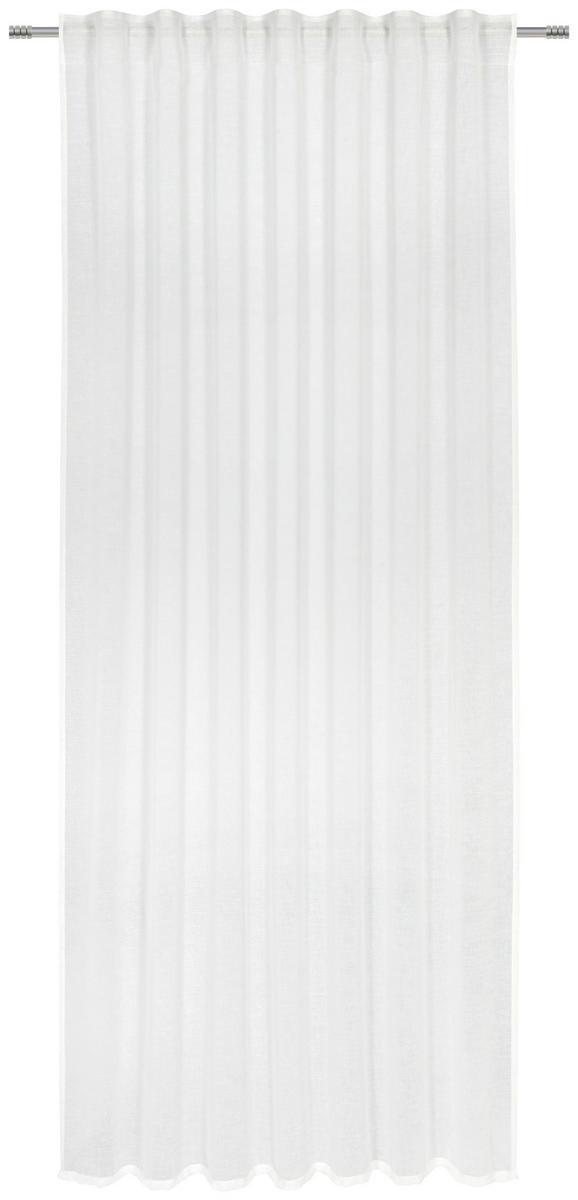 Fertigvorhang Sigrid in Weiß, ca. 140x245cm - Weiß, ROMANTIK / LANDHAUS, Textil (140/245cm) - PREMIUM LIVING