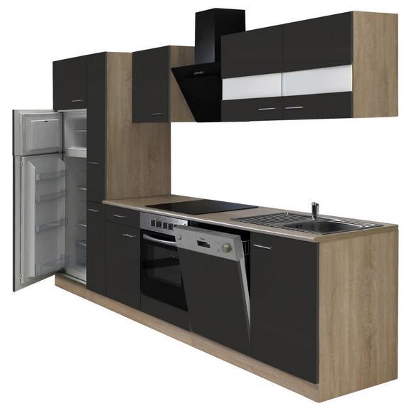 Küchenblock ECONOMY 310 - Eichefarben/Grau, KONVENTIONELL, Holzwerkstoff (310/200/60cm) - Livetastic