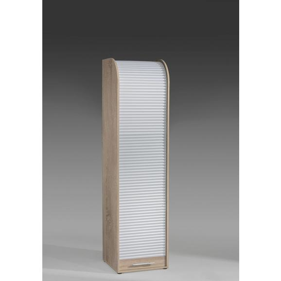 Omara Z Rolojem Victor - črna/bela, Moderno, umetna masa/leseni material (45/164/40cm) - Mömax modern living