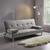 Sofa Esther mit Schlaffunktion - Chromfarben/Grau, MODERN, Textil/Metall (181/82/89cm) - Modern Living