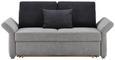 Schlafsofa in Grau mit Bettfunktion - Grau, KONVENTIONELL, Holzwerkstoff (186/90/95cm) - Premium Living