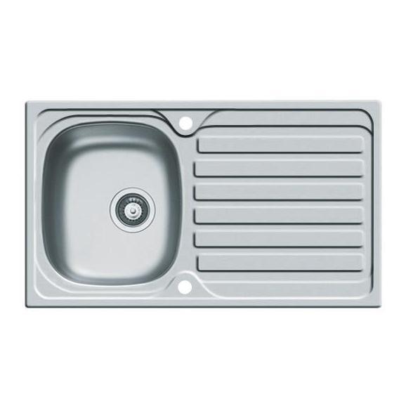 Spüle Edelstahl - Edelstahlfarben, Design, Metall (79/50cm)