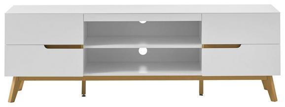 Lowboard in Weiß aus Echtholz - Eichefarben/Weiß, MODERN, Holz/Holzwerkstoff (169/56/41cm) - PREMIUM LIVING