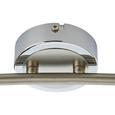 Deckenleuchte max. 50 Watt 'Harvey' - Chromfarben/Nickelfarben, MODERN, Metall (78,5/9,5/17,5cm) - Bessagi Home