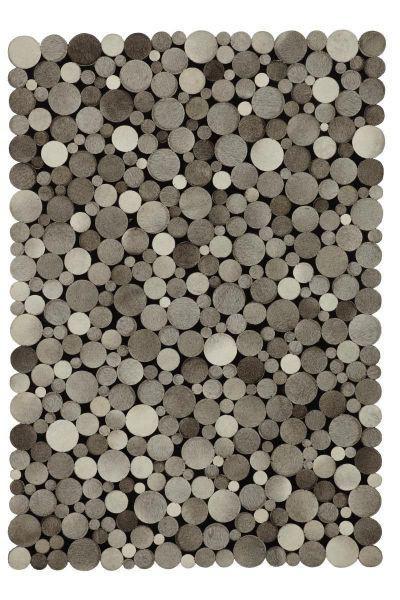Lederteppich Lukas Grau, ca. 130x190cm - Grau, MODERN, Leder/Textil (130/190cm) - Mömax modern living