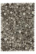 Lederteppich Lukas in Grau, ca. 130x190cm - Grau, MODERN, Leder/Textil (130/190cm) - Mömax modern living