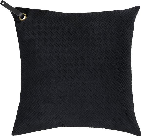 Zierkissen Big in Schwarz, ca. 60x60cm - Schwarz, MODERN, Textil (60/60cm) - PREMIUM LIVING