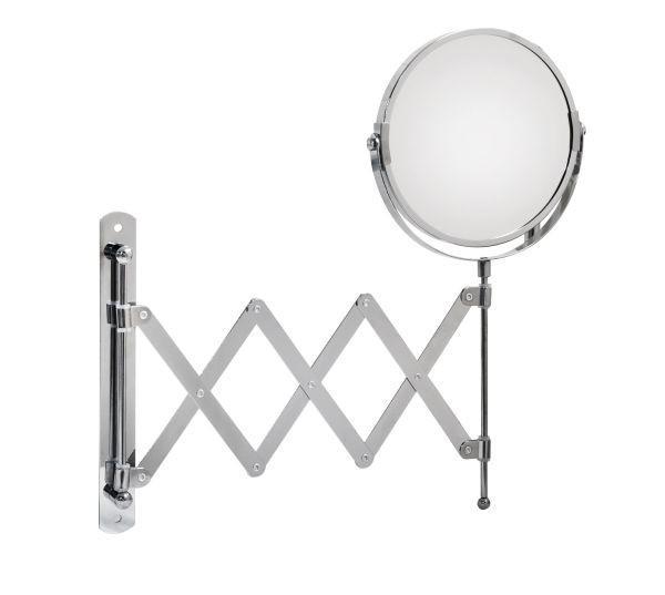 Spiegel ca. 17-46x34x2,5cm - Chromfarben/Klar, Metall (17-46/34/2,50cm) - MÖMAX modern living