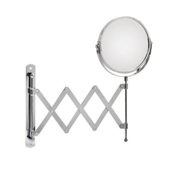 Spiegel ca. 17-46x34x2,5cm - Klar/Chromfarben, Metall (17-46/34/2,50cm) - Mömax modern living