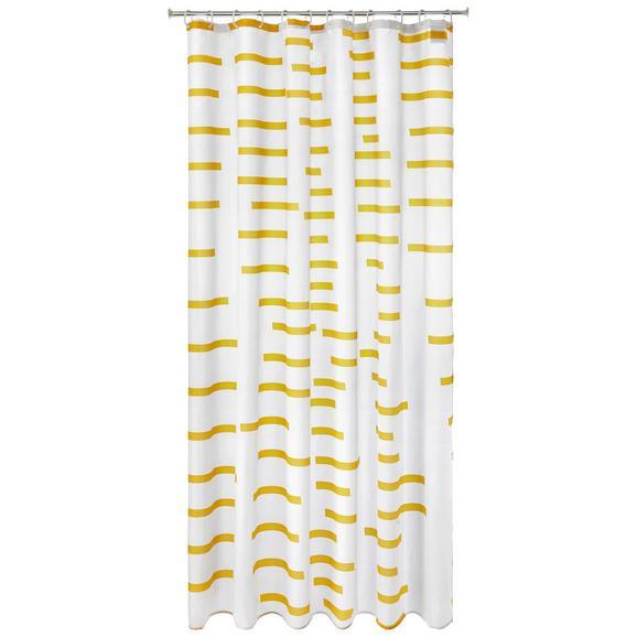 Duschvorhang Ellie ca. 180x200cm - Gelb/Weiß, Textil (180/200cm) - Mömax modern living