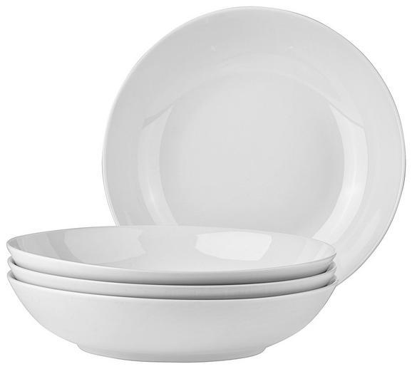 Suppenteller Billy in Weiß, 4 Stück - Weiß, Design, Keramik (20,5cm) - Mömax modern living