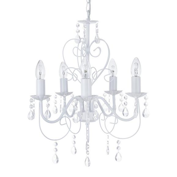 Viseča Svetilka Crisi - bela, Romantika, kovina/umetna masa (44/150cm) - Mömax modern living