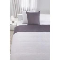 Bettwäsche Belinda ca. 200x200cm - Anthrazit/Hellgrau, Textil (200/200cm) - Premium Living