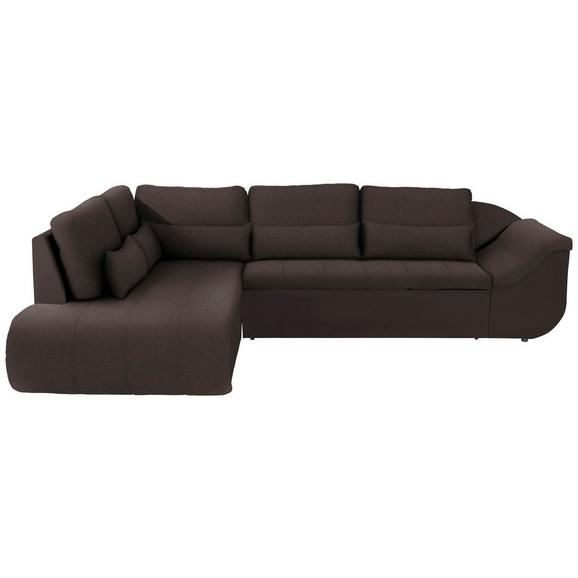 Sedežna Garnitura Carisma - črna/temno rjava, Moderno, umetna masa/tekstil (210/300cm) - Mömax modern living
