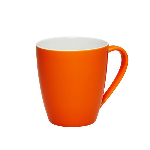 Kaffeebecher Sandy in Orange aus Keramik - Orange, KONVENTIONELL, Keramik (8,9/10cm) - Mömax modern living