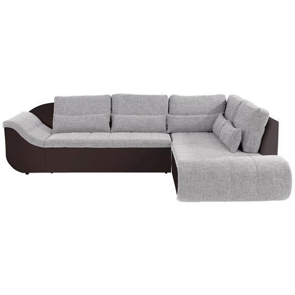 Sedežna Garnitura Carisma - črna/rjava, Moderno, umetna masa/tekstil (300/210cm) - Mömax modern living