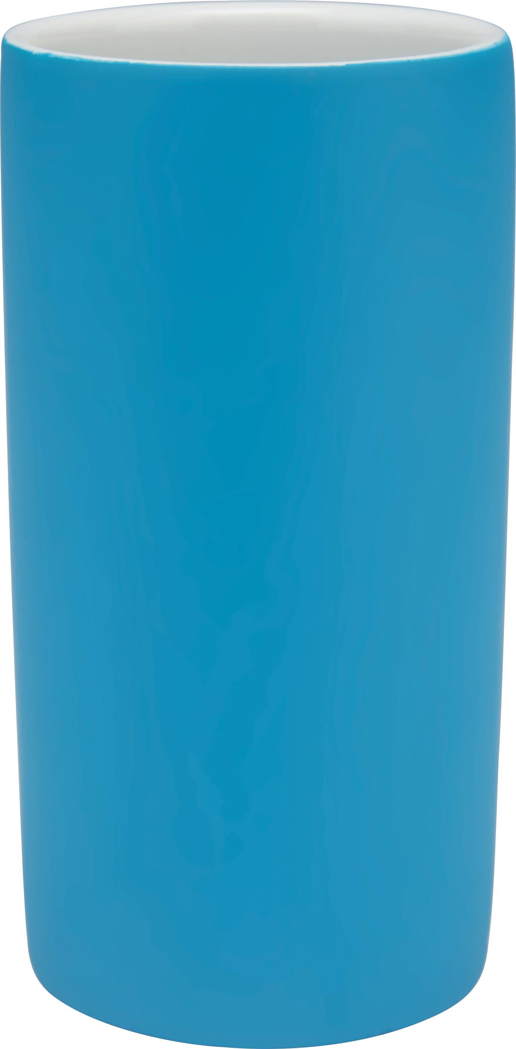 Zahnputzbecher Melanie in Petrol aus Keramik - Petrol, KONVENTIONELL, Keramik (6,5/12cm) - MÖMAX modern living