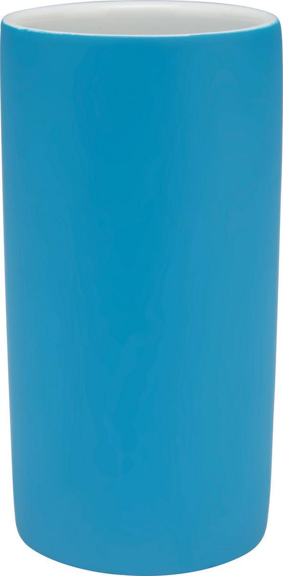 Zahnputzbecher Melanie Petrol - Petrol, KONVENTIONELL, Keramik (6,5/12/cm) - Mömax modern living