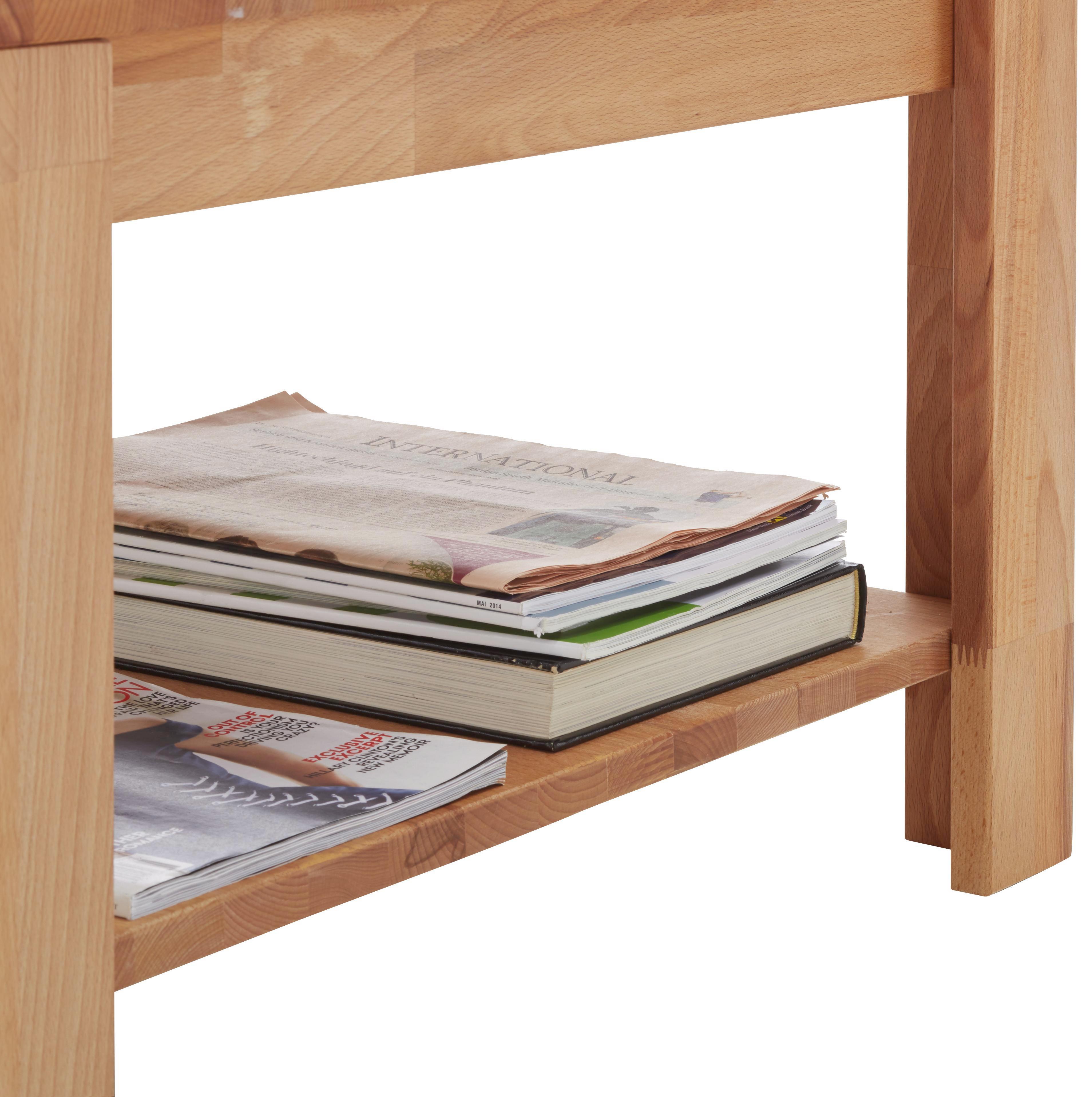 Couchtisch Holz - Buchefarben, KONVENTIONELL, Holz (70/43/70cm) - ZANDIARA