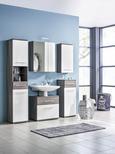 Omarica Za Pod Umivalnik Santorin - aluminij/črna, Konvencionalno, kovina/umetna masa (66/59/40cm) - Premium Living