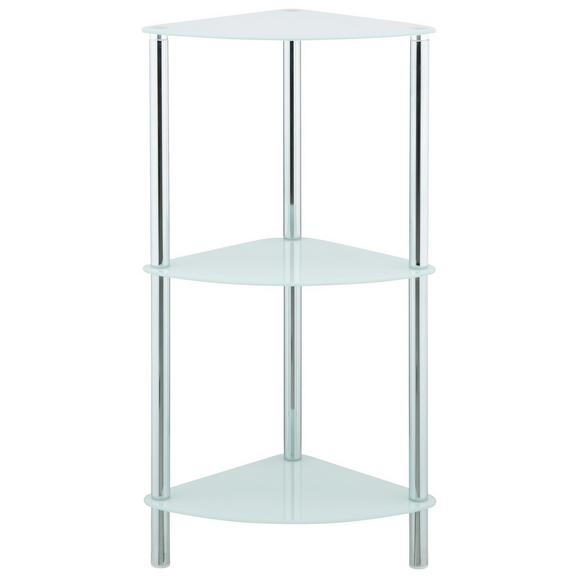 Regal Weiß - Chromfarben/Weiß, MODERN, Glas/Metall (29/72/29cm) - Mömax modern living