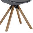 Stuhl Ricky - Naturfarben/Grau, MODERN, Holz/Textil (47,4/82/42,2cm) - Modern Living