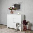 Comodă Lario - alb, Modern, compozit lemnos (112,4/96,4/40cm)