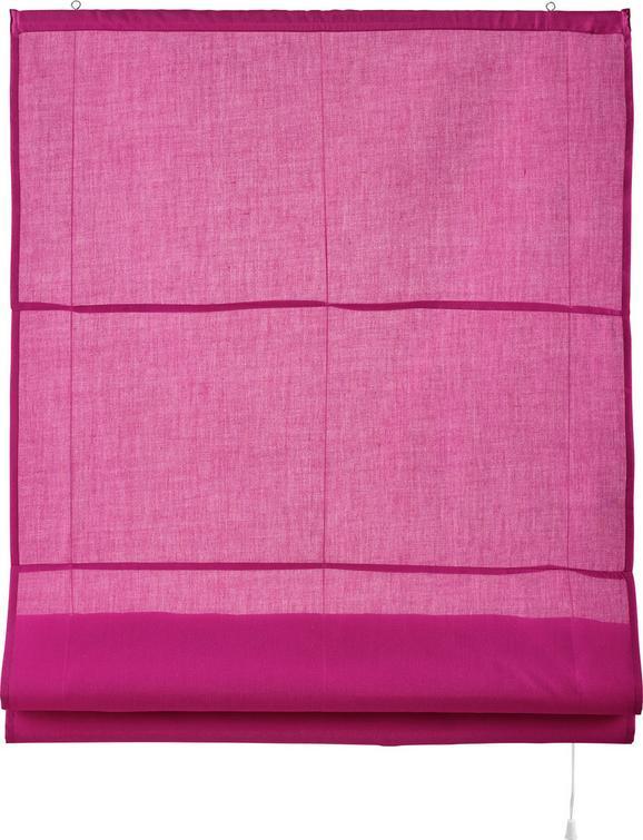 Raffrollo Adele in Pink, ca. 120x170cm - Pink, Textil (120/170cm) - MÖMAX modern living
