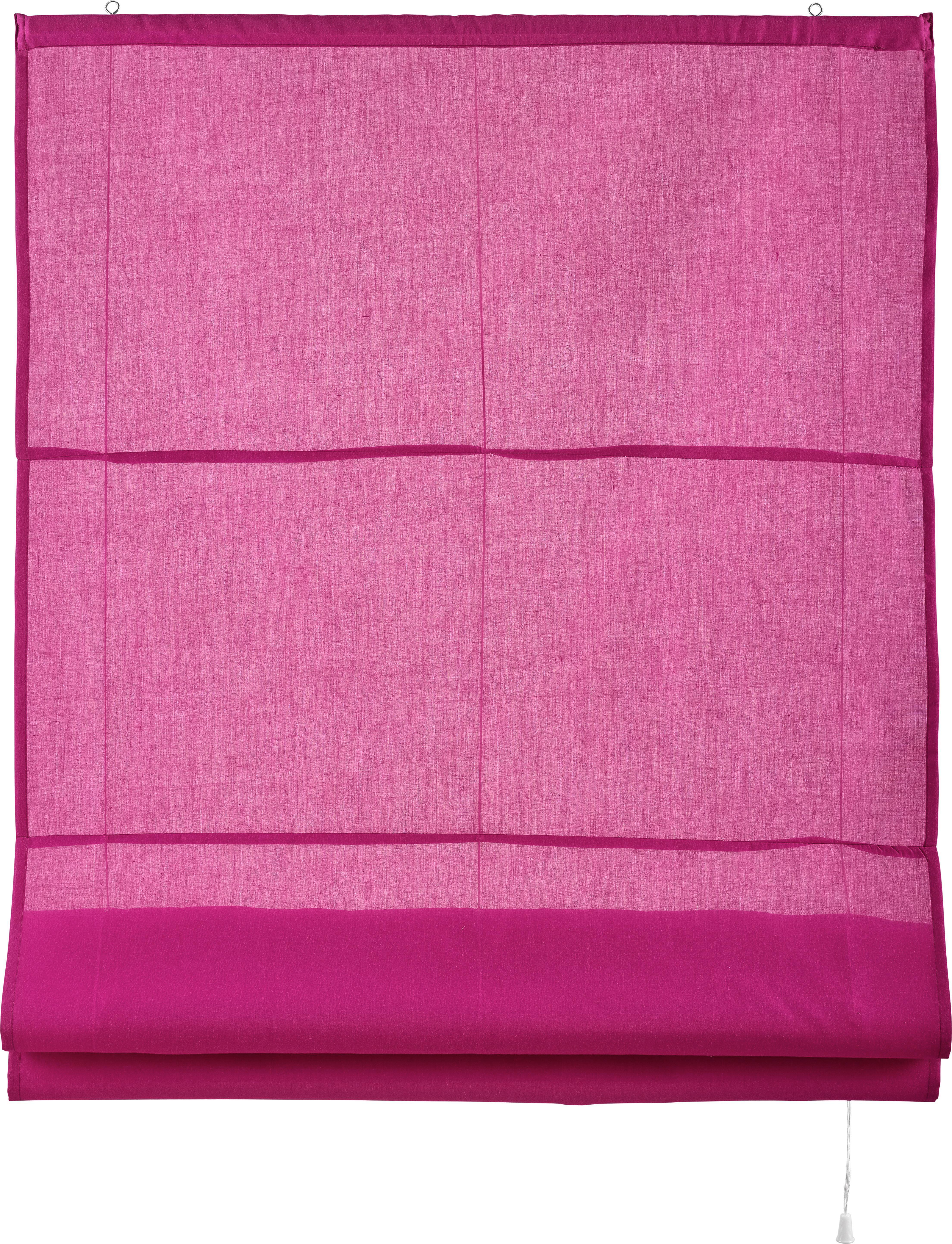 Raffrollo Finn in Pink, ca. 100x170cm - Pink, Textil (100/170cm) - MÖMAX modern living