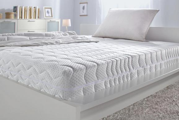 Komfortschaummatratze ca. 90x200cm - Weiß, Textil (200/90/25cm) - NADANA
