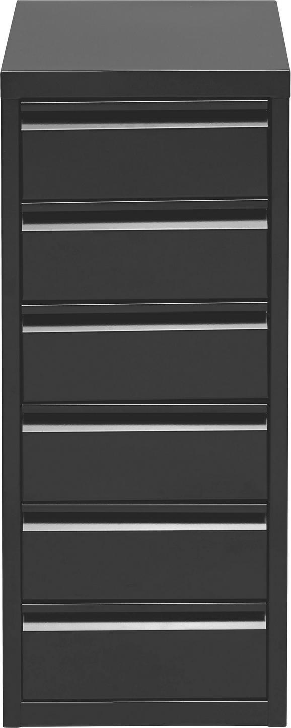 Container in Schwarz - Schwarz, Metall (28/67/41cm) - MÖMAX modern living