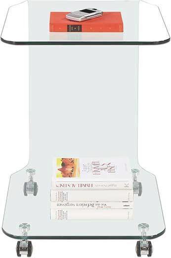 Beistelltisch aus Glas - Klar, Glas (42,5/63/42,5cm) - MÖMAX modern living