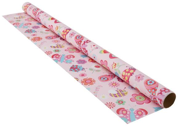 Geschenkpapier Marie in Bunt - Pink/Multicolor, Papier (70/200cm)