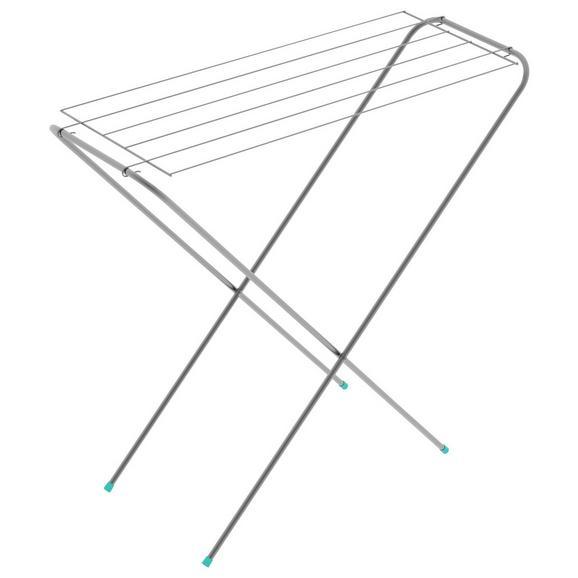Standtrockner Sibil in Weiß - Silberfarben/Weiß, Metall (90/34/82cm) - Mömax modern living
