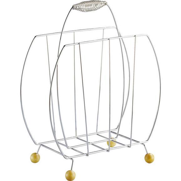 Suporturi Ziare Darnie Spring - Fag/Crom, Konventionell, lemn/metal (35/44,5/20cm) - Boxxx