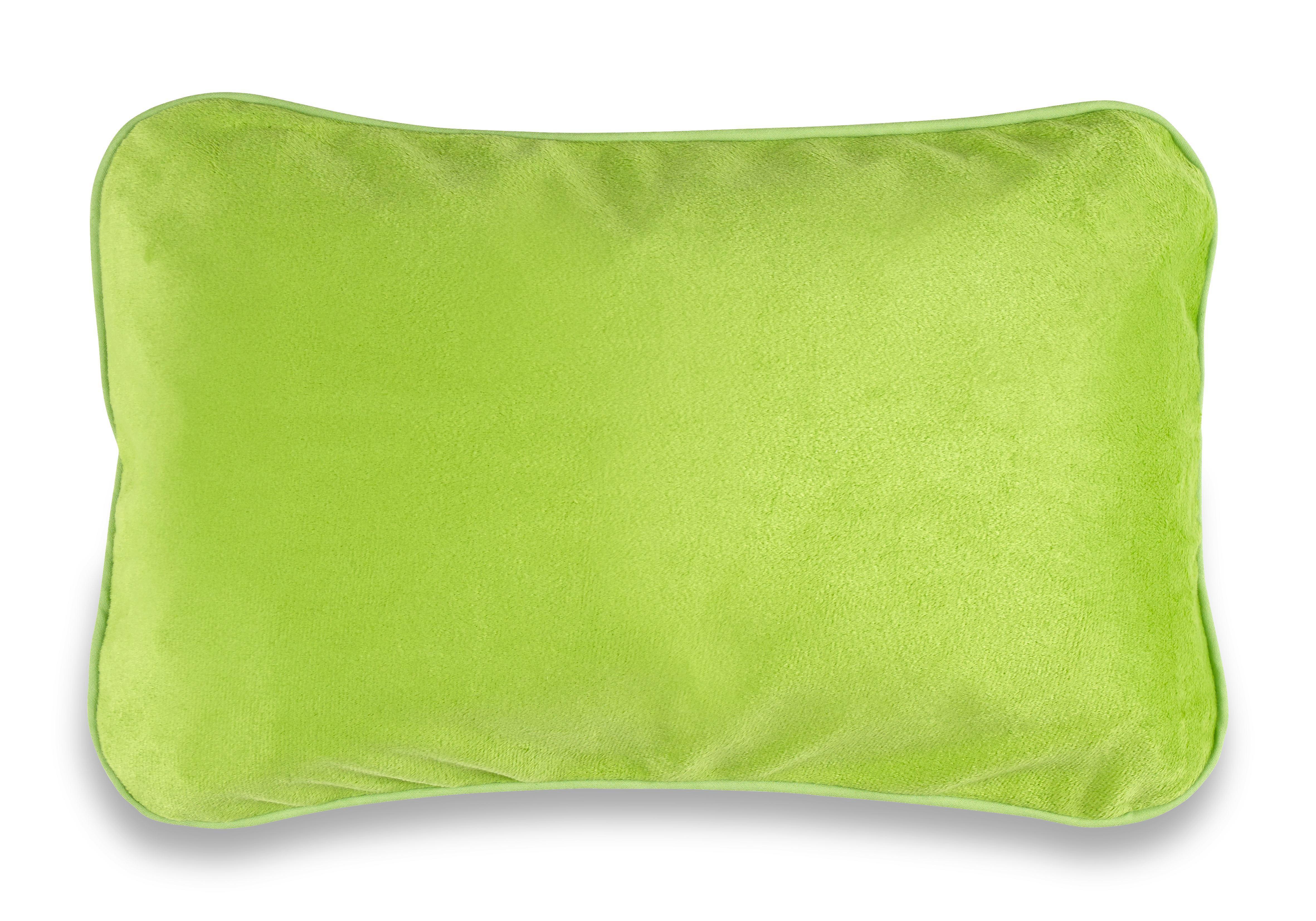 Reisekissen Sandra, ca. 40x25cm - Petrol/Grau, Kunststoff/Textil (40/25cm) - MÖMAX modern living