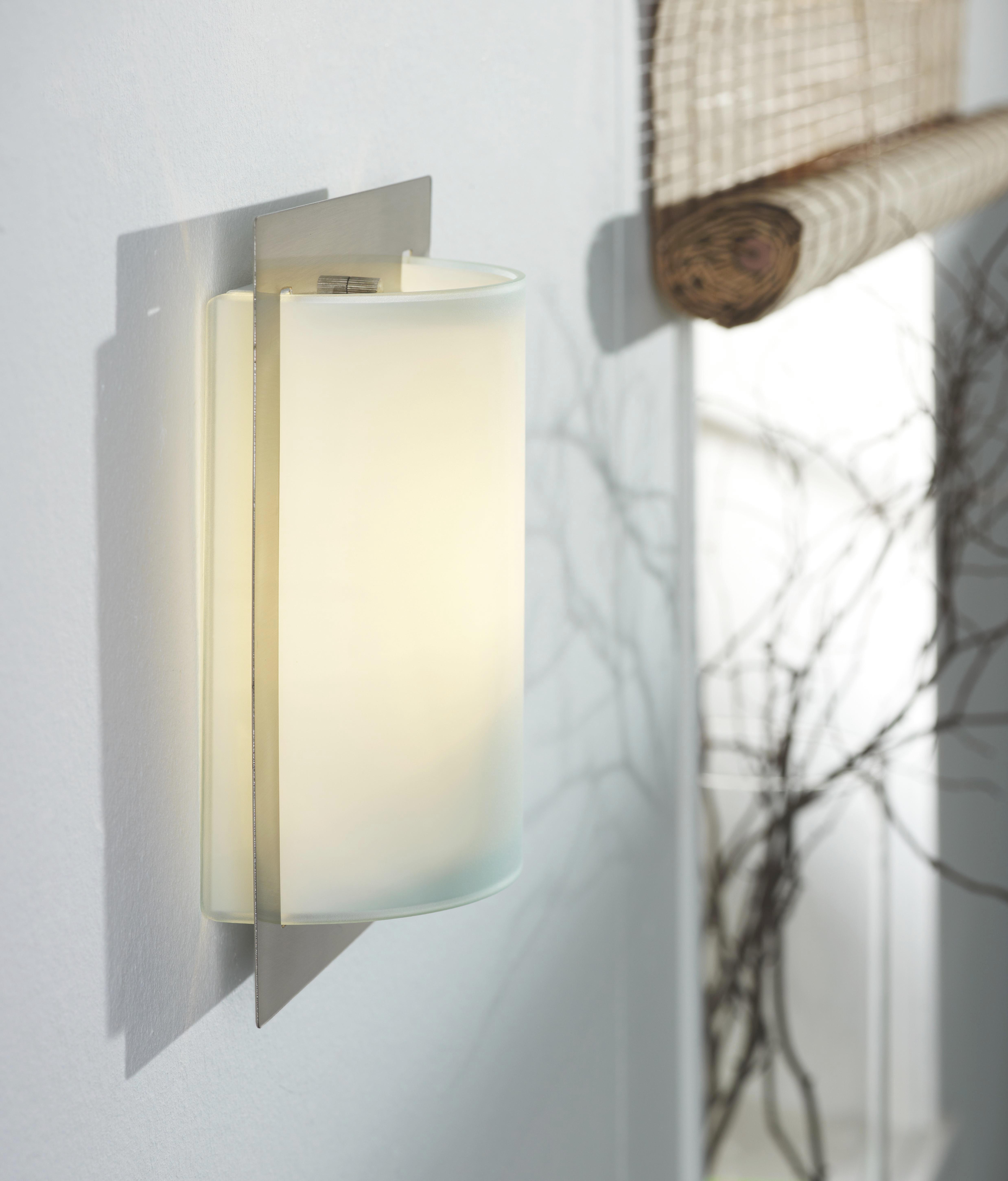 Wandleuchte Luisa, max. 60 Watt - Nickelfarben, KONVENTIONELL, Glas/Metall (20/8,5/25cm) - MÖMAX modern living