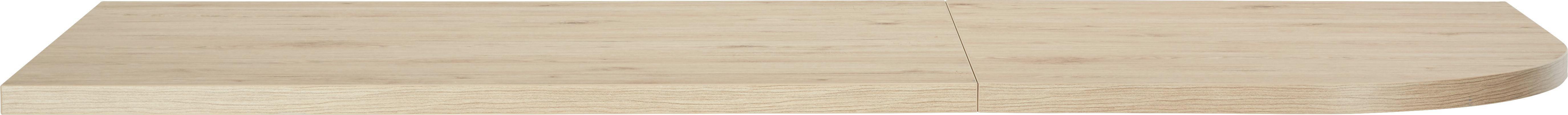 Íróasztallap Massiccio - tölgy színű, modern, fa (120/70-76/80cm) - BASED