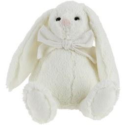 Plüschtier Bunny Weiß/blau/rosa - Blau/Rosa, Textil (28cm) - Mömax modern living