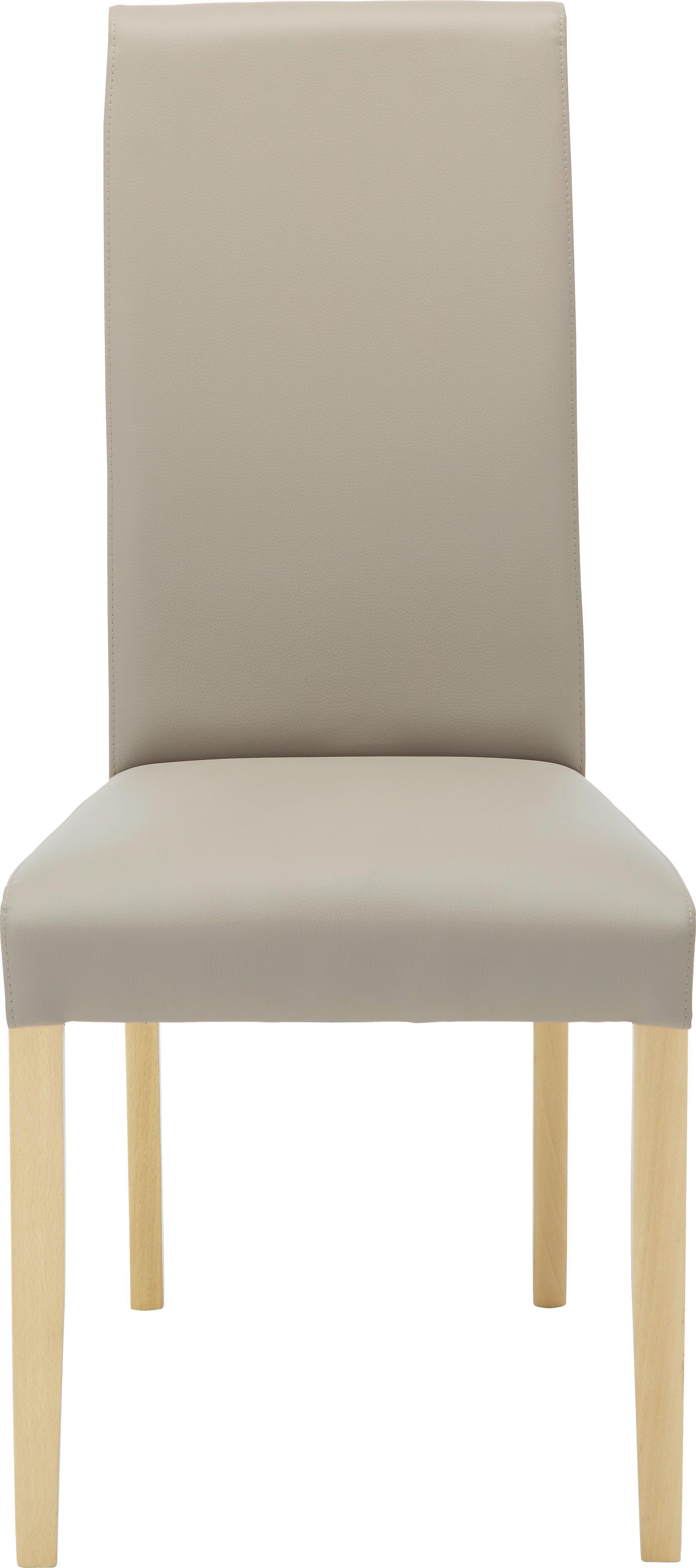 Stuhl in Schlamm/Weiß - Schlammfarben/Buchefarben, MODERN, Holz/Textil (49/105/48cm) - MODERN LIVING