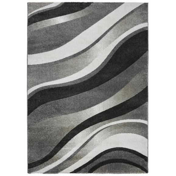 Webteppich Welle 1 ca. 80x150cm - Anthrazit/Weiß, KONVENTIONELL, Textil (80/150cm) - Modern Living