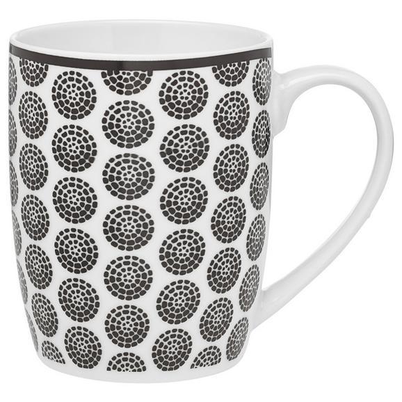 Cană Pentru Cafea Shiva - alb/negru, Lifestyle, ceramică (8,5/10,5cm) - Modern Living