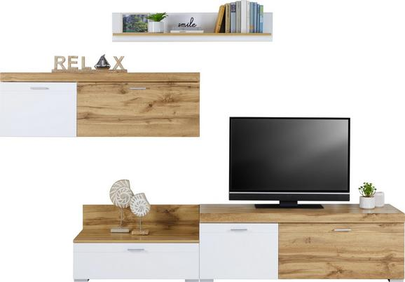 Dnevni Regal Lista - bela/hrast, Moderno, umetna masa/leseni material (260/180/45cm) - Mömax modern living