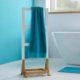 Handtuchhalter Mirella - Braun/Weiß, MODERN, Holz/Holzwerkstoff (41/100/28cm) - Modern Living