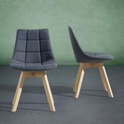 Stuhl Cleo - Dunkelgrau/Buchefarben, MODERN, Holz/Textil (48/80/42cm) - Mömax modern living