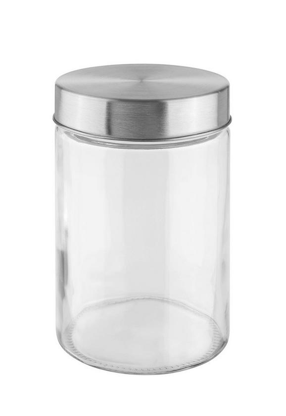Vorratsdose Magnus in Klar aus Glas - Klar/Edelstahlfarben, MODERN, Glas/Metall (11,5/17cm) - MÖMAX modern living
