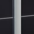 Schwebetürenschrank 361cm Bensheim - alb/gri închis, Modern, sticlă/compozit lemnos (361/230/62cm) - James Wood