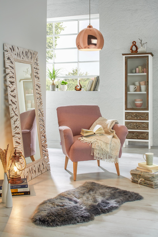 Birkabőr Lea - szürke, romantikus/Landhaus, textil (60/90cm) - MÖMAX modern living