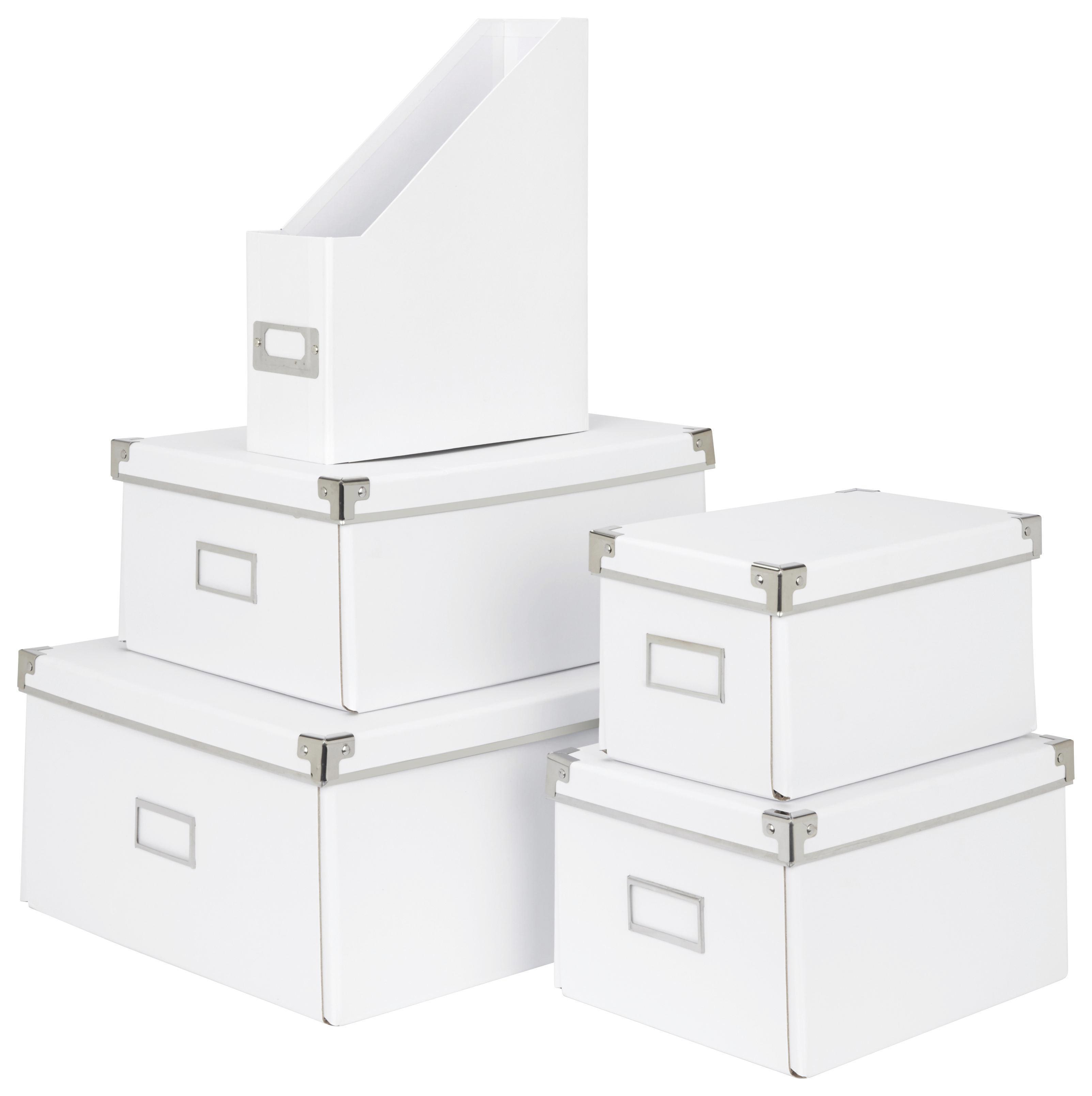 Irattartó Lorenz - fehér, karton/fém (29/8,6/24,2cm) - MÖMAX modern living